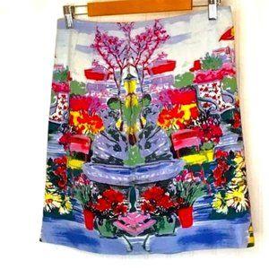 Talbots Skirt Floral Market Size 6
